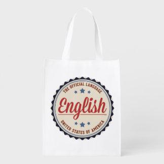 USA Official Language Reusable Grocery Bag