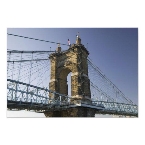 USA, Ohio, Cincinnati: Roebling Suspension 3 Photograph