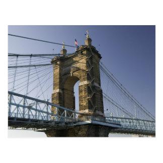 USA, Ohio, Cincinnati: Roebling Suspension 3 Postcard