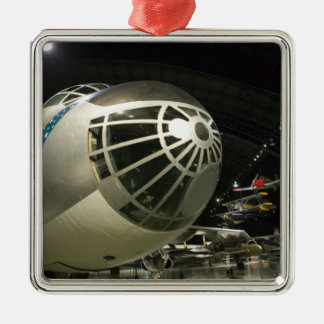 USA, Ohio, Dayton: US Air Force Museum and Silver-Colored Square Ornament