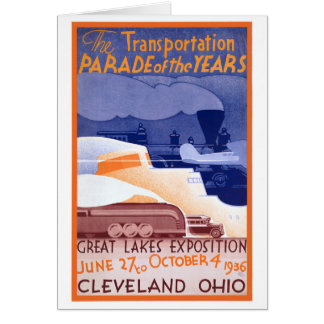 USA Ohio Expo Vintage Poster Restored Card