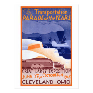 USA Ohio Expo Vintage Poster Restored Postcard