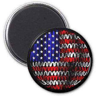 USA on Black Magnet
