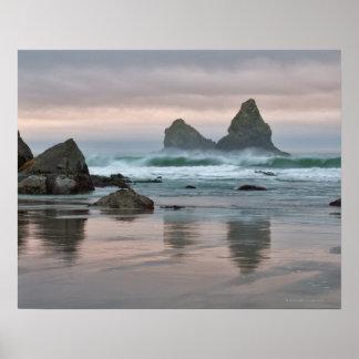 USA, Oregon, Bullards Beach Poster