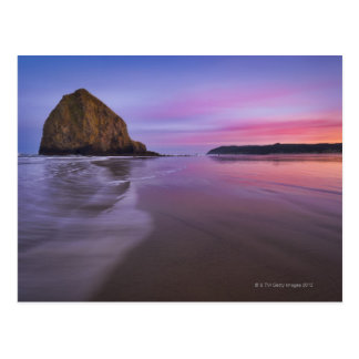 USA, Oregon, Clatsop County, Haystack Rock and Postcard