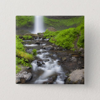 USA, Oregon, Columbia River Gorge, Latourell 2 Inch Square Button