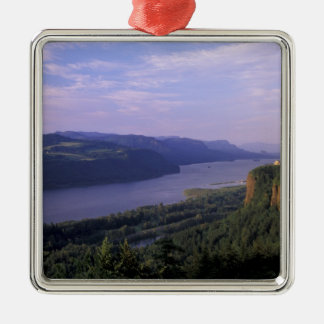 USA, Oregon, Columbia River Gorge National 4 Silver-Colored Square Ornament