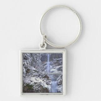 USA, Oregon, Columbia River Gorge Silver-Colored Square Keychain