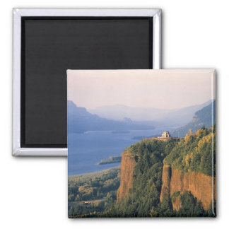 USA, Oregon, Columbia River. Sunset at Crown Square Magnet