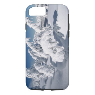 USA, Oregon, Crater Lake NP. Trees droop under a iPhone 7 Case