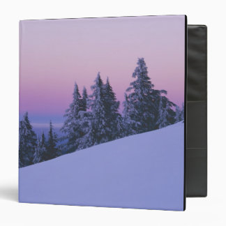 USA, Oregon, Deschutes National Forest, Dusk 3 Ring Binder