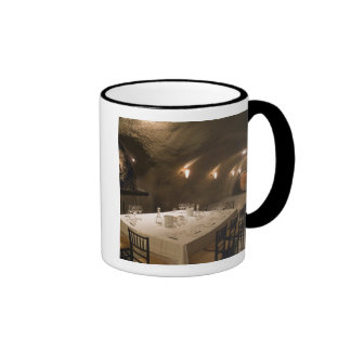 USA, Oregon, Dundee. Dining room in Archery Ringer Coffee Mug