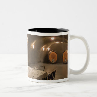 USA, Oregon, Dundee. Dining room in Archery Two-Tone Coffee Mug
