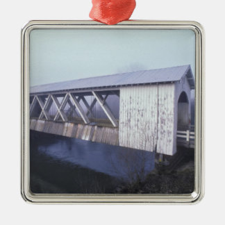 USA, Oregon. Gilkey covered bridge spans Metal Ornament