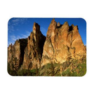 USA, Oregon, Granite Cliffs At Smith Rock State Rectangular Photo Magnet