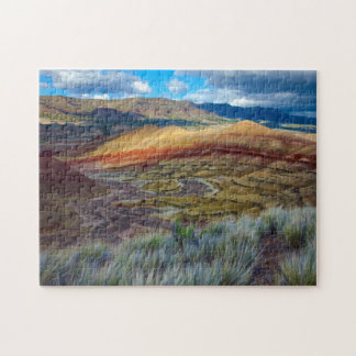 USA, Oregon. Landscape Of The Painted Hills Jigsaw Puzzle