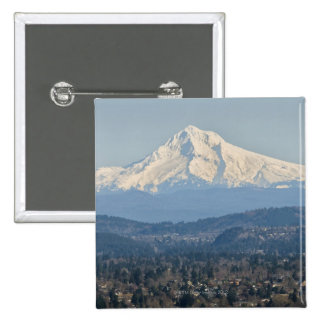 USA, Oregon, Mount Hood in winter 2 Inch Square Button