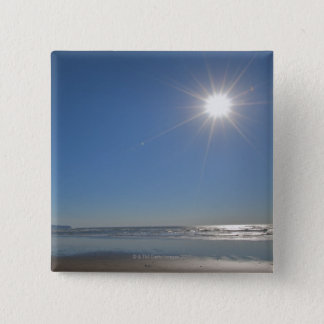 USA, Oregon, Pacific City, sun and beach 2 Inch Square Button