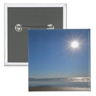 USA, Oregon, Pacific City, sun and beach 2 Inch Square Button