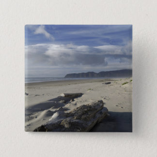 USA, Oregon, Sand Dunes and Ocean, Pacific City 2 2 Inch Square Button