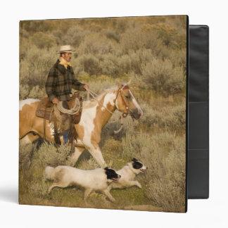 USA, Oregon, Seneca, Ponderosa Ranch. A cowboy 3 Ring Binder