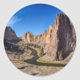 USA, Oregon, Smith Rock State Park Classic Round Sticker