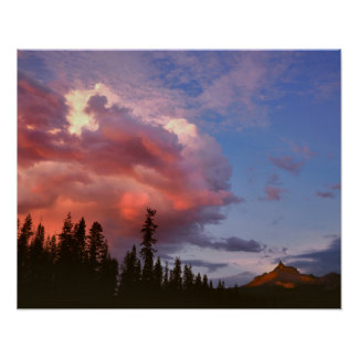 USA, Oregon, Umpqua National Forest. Storm Poster
