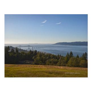USA, Oregon, Washington, bridge over Columbia Postcard