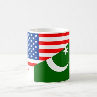 usa Pakistan country half flag america symbol Coffee Mug