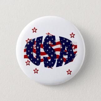 USA-Patriotic 2 Inch Round Button