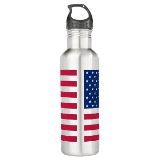 USA Patriotic American Flag Stripes Water Bottle