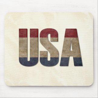 USA Patriotic American Worn Aged Look Mouse Pad