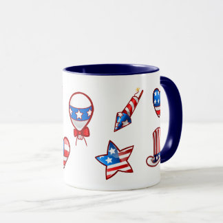 USA Patriotic Design 4th of July Gift Mugs