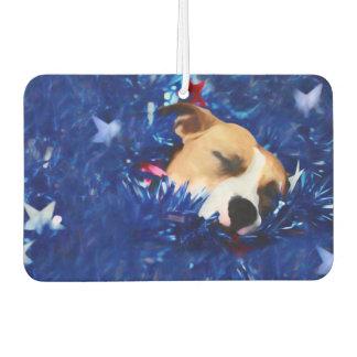 USA Patriotic Dog American Pit Bull Terrier Air Freshener