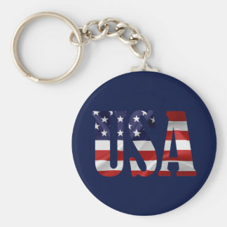 USA Patriotic Keychain