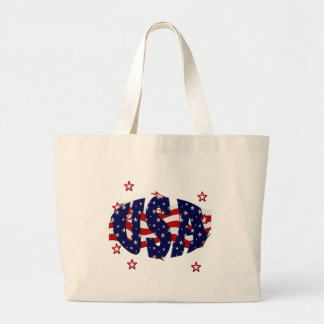 USA-Patriotic Large Tote Bag