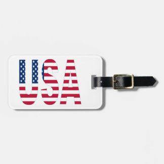 USA Patriotic Luggage Tag