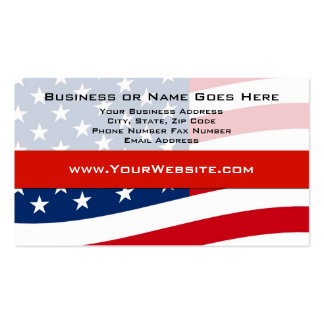 USA Patriotic Modern Waving Flag Business Cards