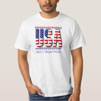USA Patriotic T-Shirt - American Flag Tee