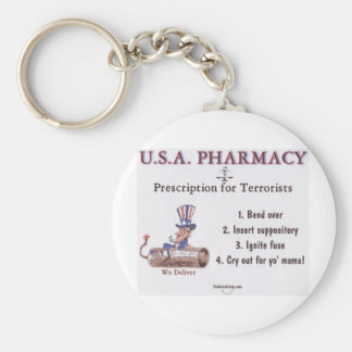 USA Pharmacy Keychain