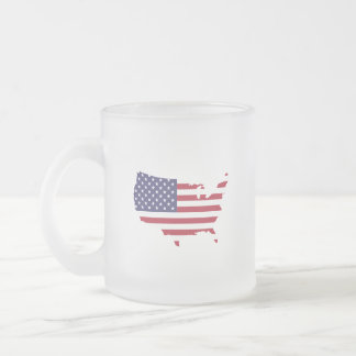 USA Pledge.. every morning... because it matters. Frosted Glass Coffee Mug