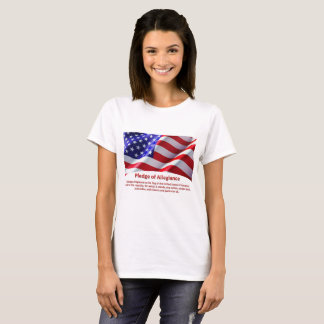 USA Pledge of Allegiance Woman's Tshirt