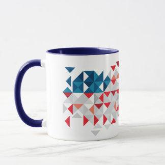 USA Polygon Art, Abstract American Flag Mug