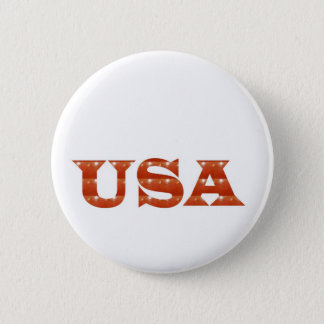 USA - Proud IDENTITY Sparkle RED ENERGY STRENGTH 2 Inch Round Button