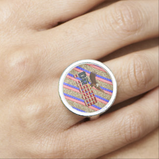 Usa Proud Photo Ring