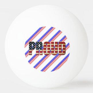 Usa proud ping pong ball