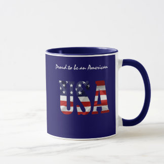 USA Proud to be an American customizable Mug
