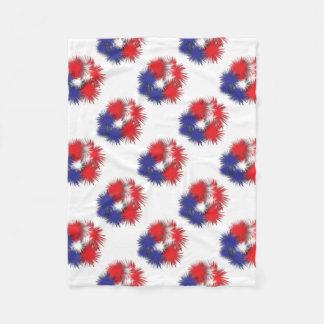 USA puffy flag Fleece Blanket