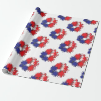 USA puffy flag Wrapping Paper