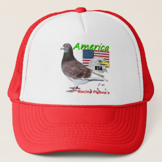 USA Racing Pigeon American Trucker Hat